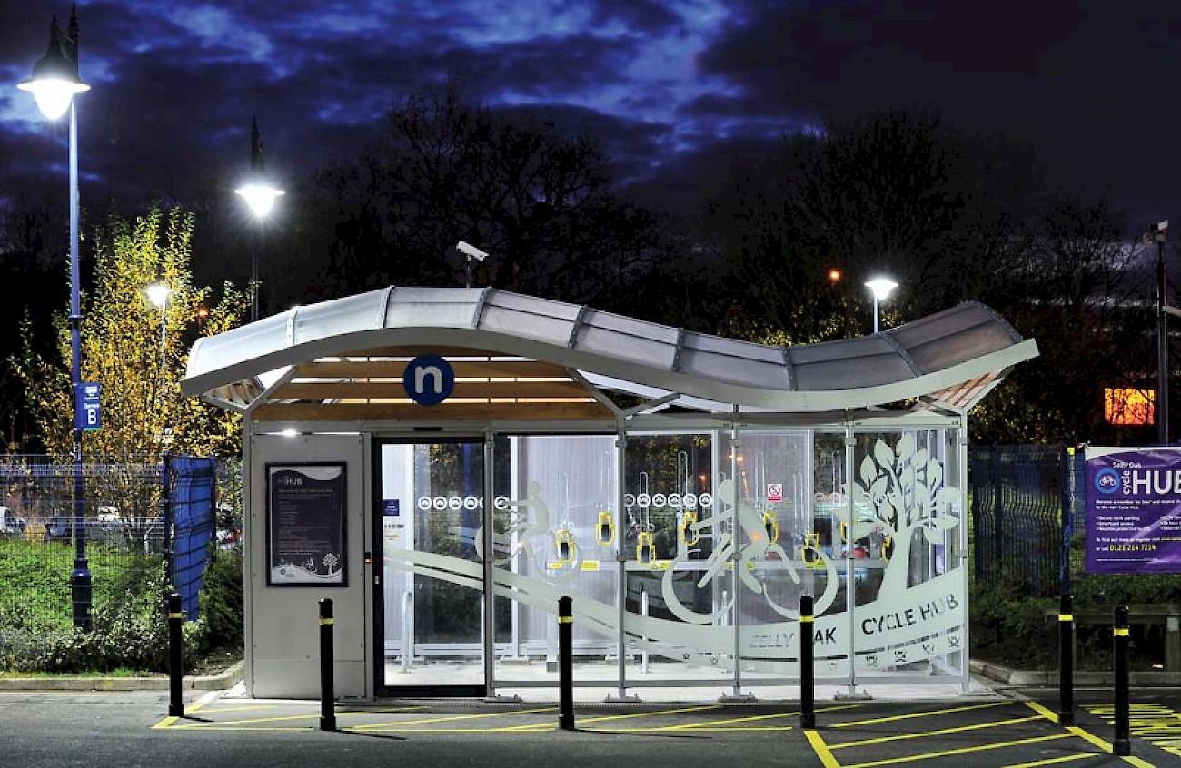Selly Oak Secure Cycle Hub Jefferson Sheard Architects